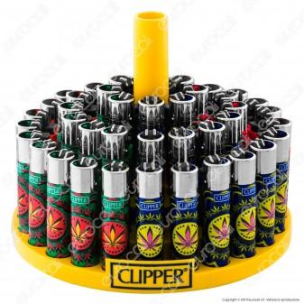 Clipper Large Fantasia Weedy 4 - Box da 48 Accendini
