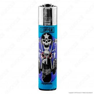 Clipper Large Fantasia Skull Ride - Box da 48 Accendini