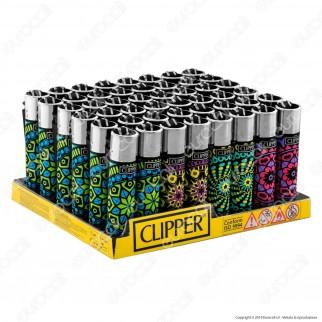 Clipper Large Fantasia Print Mandala - Box da 48 Accendini