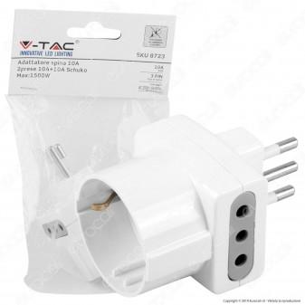 V-Tac Multipresa Adattatore Triplo con Schuko Colore Bianco - SKU 8723