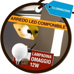 Lampadina Intereurope Light Globo G125 12W Omaggio Acquistando Arredo LED Componibile