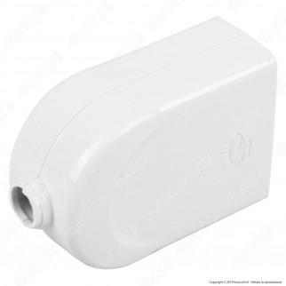 V-Tac Presa Singola 10/16A con Uscita Cavo Dritta Colore Bianco - SKU 8728
