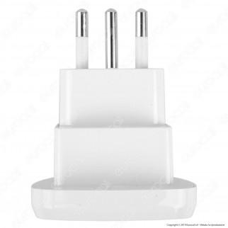 V-Tac Adattatore Singolo Universale Spina 10A Colore Bianco - SKU 8747