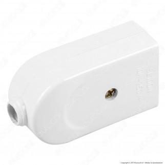 V-Tac Presa Singola 10A con Uscita Cavo Dritta Colore Bianco - SKU 8727