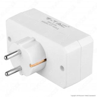 V-Tac VT-1005 Multipresa Adattatore Triplo Colore Bianco - SKU 8784