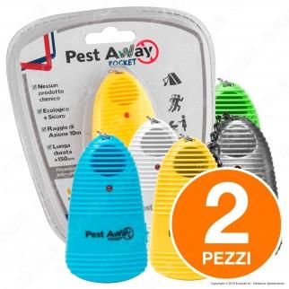 Kit 2 Pest Away Pocket Intergross Antizanzare Portatile ad Ultrasuoni