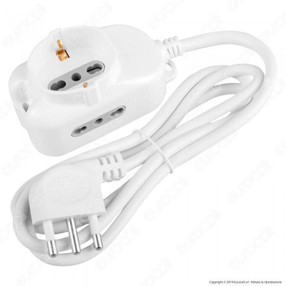 V-Tac Multipresa 3 Posti Colore Bianco - SKU 8733