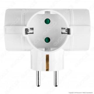 V-Tac VT-1012 Multipresa Adattatore Triplo Colore Bianco - SKU 8790