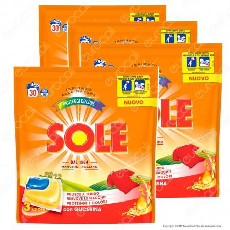 Kit Risparmio Sole Perle Proteggi Colore GelCaps Detersivo Superconcentrato - 4 Confezioni da 660ml