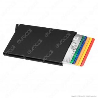 Intergross Click Card Porta Carte in Alluminio Ultra Leggero con RFID Block