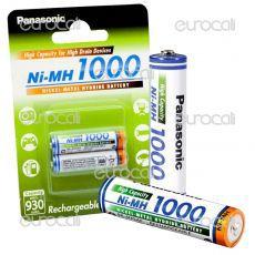 Panasonic Ni-MH 1000 930mAh Pile Ricaricabili Ministilo AAA - Blister 2 Batterie