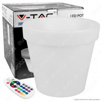 V-Tac VT-7808 Lampada a Forma di Vaso Multicolor RGB LED 3W Ricaricabile con Telecomando IP54 - SKU 40211