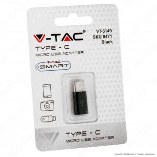 V-Tac VT-5149 Adattatore Singolo da Micro USB a Tipo C Colore Nero - SKU 8471