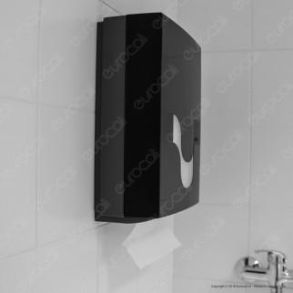 Celtex Megamini Black Dispenser di Asciugamani Interfogliati da Muro - Colore Nero