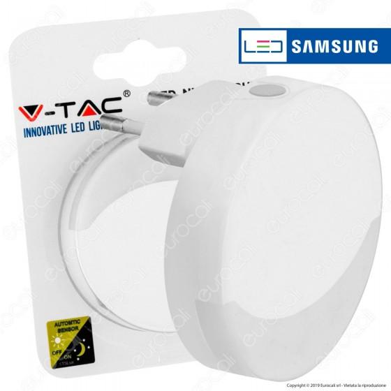 V-Tac VT-82 Punto Luce LED con Sensore Crepuscolare con Chip Samsung - SKU 828 / 829