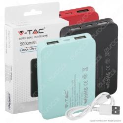 V-Tac VT-3503 Power Bank Portatile 5000 mAh 2 Uscite USB 2,1A - SKU 8191 / 8192 / 8193 / 8194 / 8195 / 8196