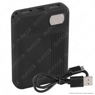 V-Tac VT-3504 Power Bank Portatile 10000 mAh 2 Uscite USB 2,1A - SKU 8850 / 8851 / 8852 / 8853