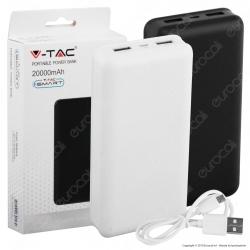 V-Tac VT-3502 Power Bank Portatile 20000 mAh 2 Uscite USB 2,1A - SKU 8189 / 8190