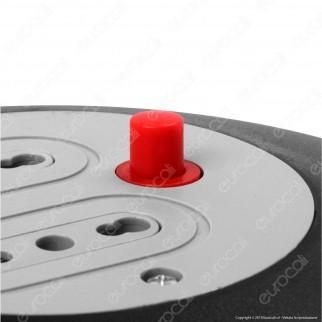 V-Tac Prolunga Avvolgicavo Spina 16A e 2 Prese 10/16A Bipasso Colore Nero - 5 metri - SKU 8700