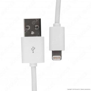 V-Tac VT-5552 USB Data Cable Lighting Certificato MFI Colore Bianco Cavo 1,5m - SKU 8453