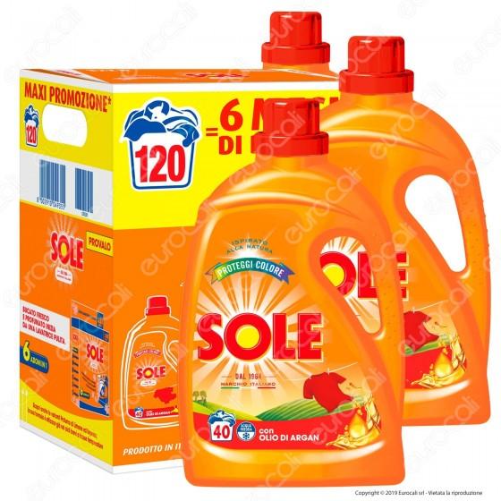 Kit Risparmio Sole Proteggi Colore Detersivo Liquido per Lavatrice - 3 flaconi da 2000ml