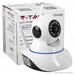 V-Tac VT-5120 Telecamera di Sorveglianza Wifi IP PTZ 720p - SKU 8377