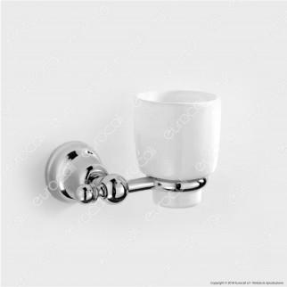 Porta Bicchiere in Metallo Cromato - Linea Oslo Eurocali - 1