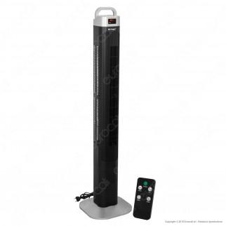V-Tac VT-5546 Tower Fan 46 Inches con Display Temperatura e Telecomando Colore Nero - SKU 7901