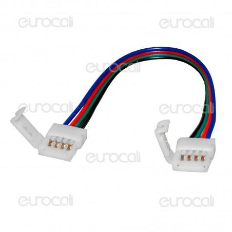 Connettore Flessibile per Strisce LED Multicolore RGB 5050 Clip 4 Pin - SKU 3502