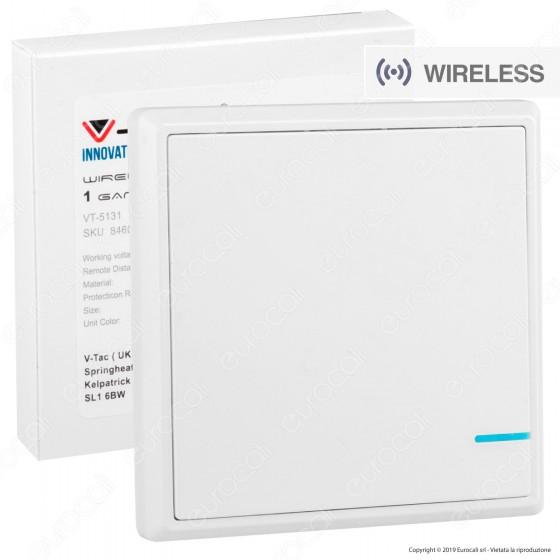 V-Tac VT-5131 Interruttore Wireless One Gang Senza Fili con Luce LED - SKU 8460