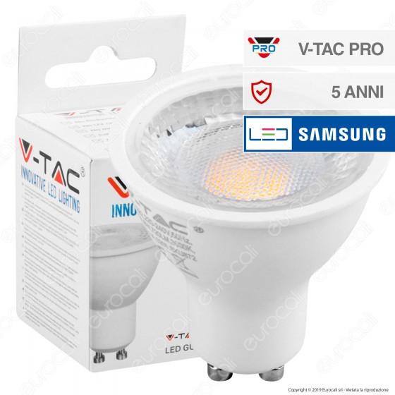 V-Tac PRO VT-292 Lampadina LED GU10 8W Faretto Spotlight Chip Samsung 110° - SKU 872 / 874