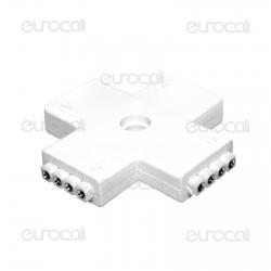 Connettore Angolare Consecutivo a X per Strisce LED Multicolore RGB 5050 4 Pin - SKU 3510