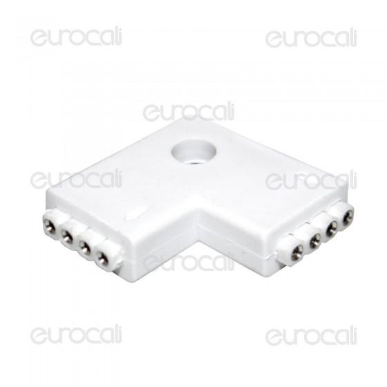 Connettore Angolare Consecutivo a L per Strisce LED Multicolore RGB 5050 4 Pin