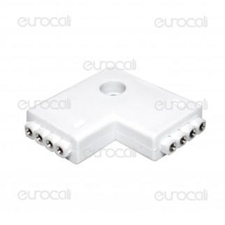 Connettore Angolare Consecutivo a L per Strisce LED Multicolore RGB 5050 4 Pin - SKU 3511