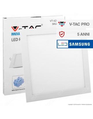 V-Tac PRO VT-624 SQ Pannello LED Rotondo 24W SMD da Incasso con Driver con Chip Samsung - SKU 721 / 722 / 723