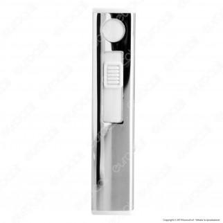 Atomic Accendino USB Ricaricabile Antivento in Metallo Lucido - Box di 13 Accendini