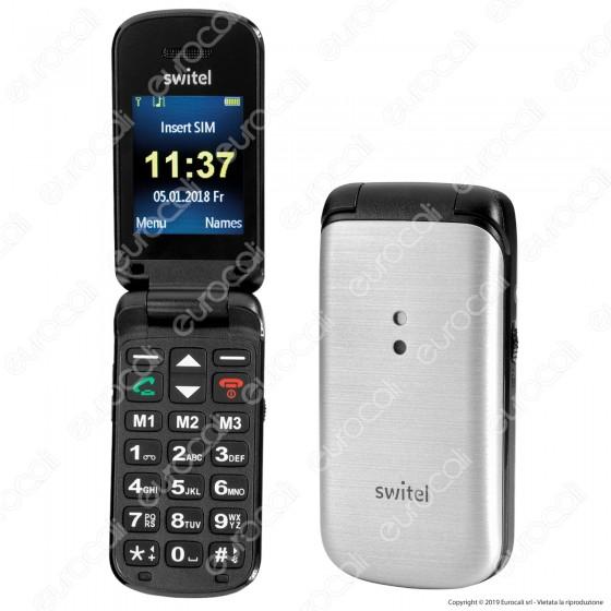 Switel M215 Mobile Telefono Cellulare per Portatori di Apparecchi Acustici Colore Argento