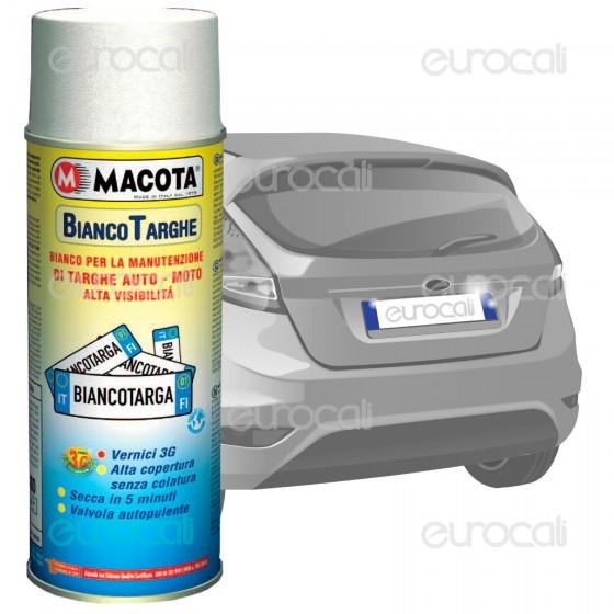 Spray Macota Bianco Targhe - Vernice per la Manutenzione di Targhe