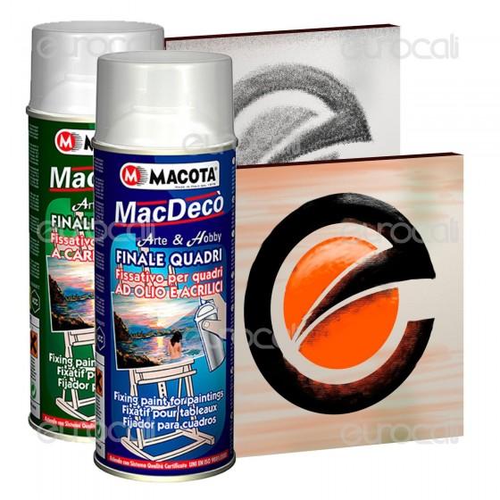 Spray Macota Mac Decò - Finale Protettivo per Quadri ad Olio, Acrilico e Carboncino