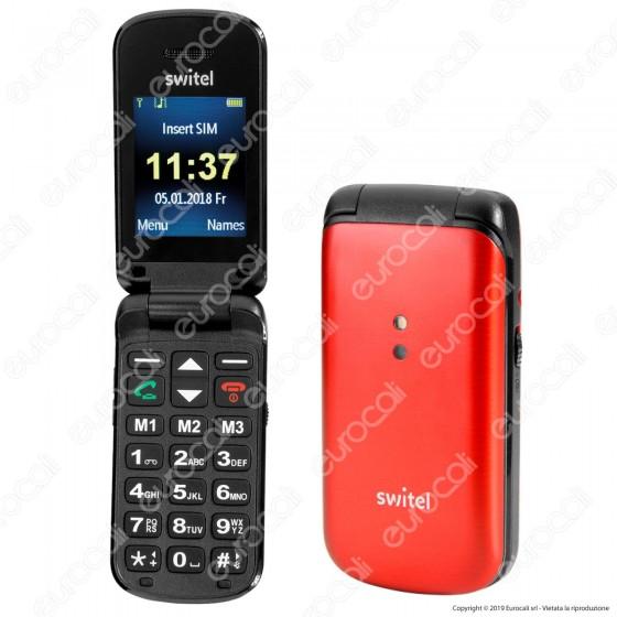 Switel M215 Mobile Telefono Cellulare per Portatori di Apparecchi Acustici Colore Rosso