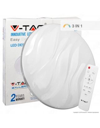 V-Tac VT-8503 Plafoniera LED 65W Forma Circolare Effetto Cielo Stellato con Telecomando - SKU 1461