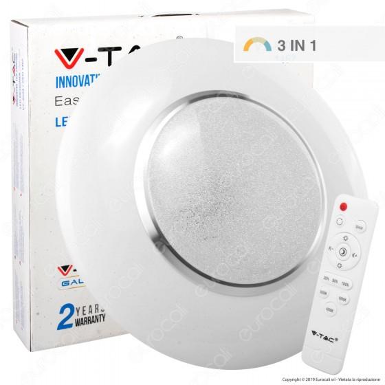 V-Tac VT-8504 Plafoniera LED 65W Forma Circolare Effetto Cielo Stellato con Telecomando - SKU 1462