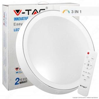 V-Tac VT-8502 Plafoniera LED 65W Forma Circolare con Telecomando - SKU 1475