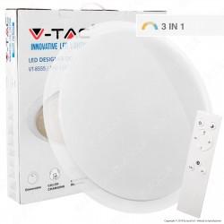 V-Tac VT-8064 Plafoniera LED 60W Forma Circolare Effetto Cielo Stellato con Telecomando - SKU 1455