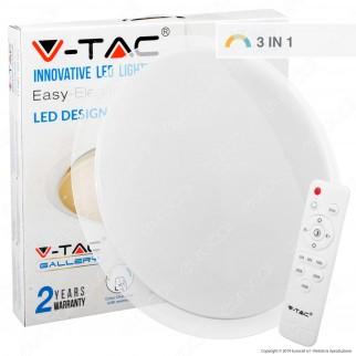 V-Tac VT-8401 Plafoniera LED 40W Forma Circolare Effetto Cielo Stellato con Telecomando - SKU 1474