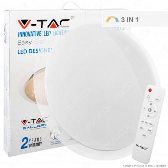 V-Tac VT-8501 Plafoniera LED 65W Forma Circolare Effetto Cielo Stellato con Telecomando - SKU 1473