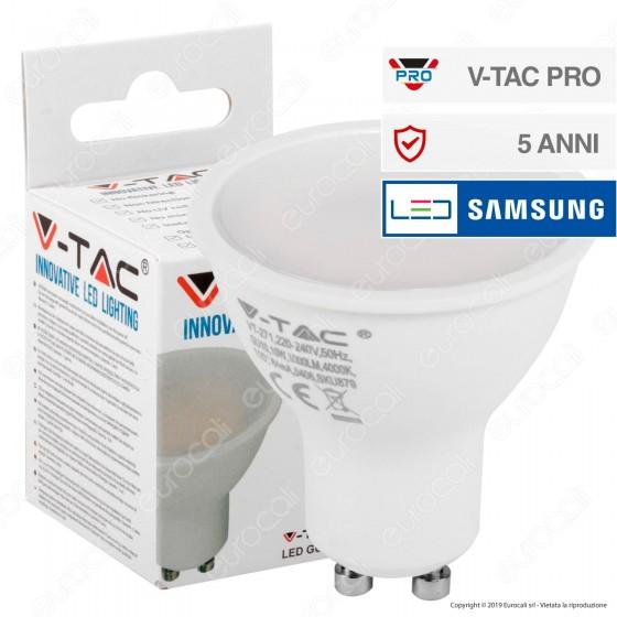 V-Tac PRO VT-271 Lampadina LED GU10 10W Faretto Spotlight Chip Samsung 110° - SKU 879 / 880