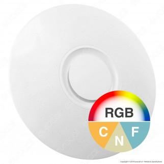 V-Tac VT-5500 Plafoniera LED RGB 35W Forma Circolare Effetto Cielo Stellato con Altoparlante e Telecomando - SKU 1490