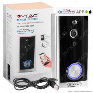 V-Tac Smart VT-5412 Videocitofono Wi-Fi con Funzioni di Sorveglianza - SKU 8355
