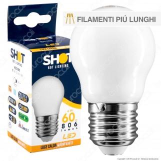 Bot Lighting Lampadina LED E27 6W MiniGlobo G45 Milky Filamento Extra-Lungo - mod. MLD3106X2